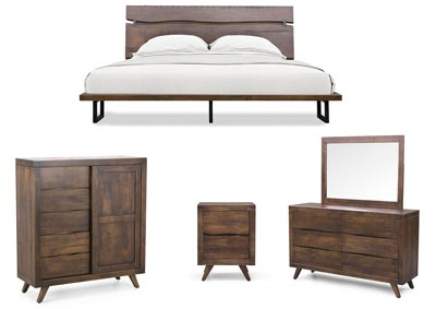 Image for Pasco Brown Panel King Bed