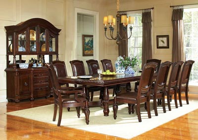 "Image for Antoinette Brown Ped Table w/24"" Leaf"