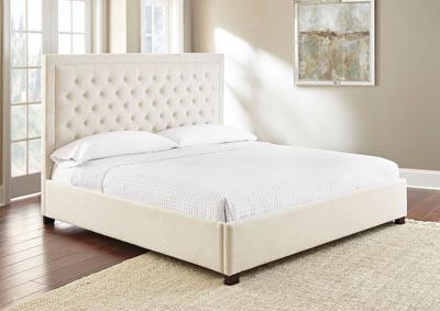 Image for Isadora White Upholstered King Bed