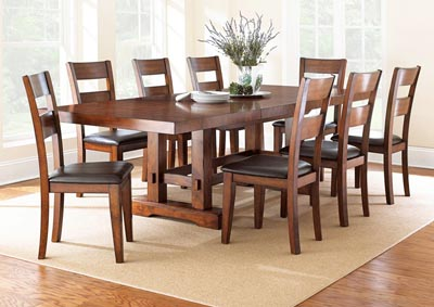 Image for Zappa Cherry Rectangular Dining Set W/ 8 Chairs & Server