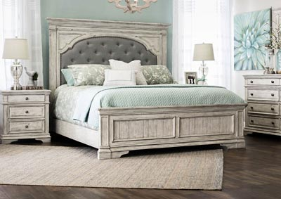 Image for Highland Park Avenue Cathedral White Panel King Bed