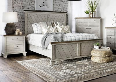Image for Bear Creek White Panel King Bed