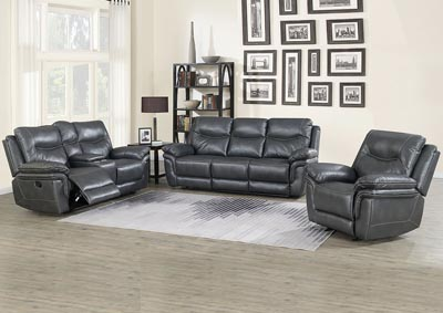Image for Isabella Grey Recliner Sofa