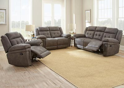 Image for Anastasia Grey Recliner Loveseat