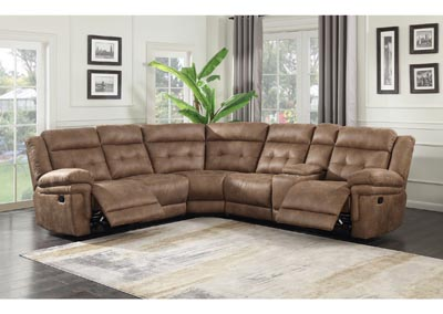 Image for Anastasia Cocoa Left Arm Loveseat w/ 1 Recliner