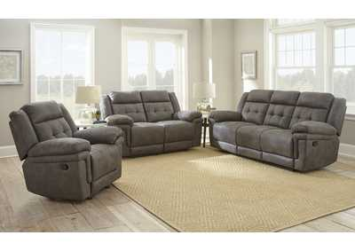 Image for Anastasia Grey Recliner Armchair & Loveseat