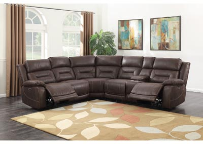 Image for Aria Saddle Brown 3 Piece Sectional Sofa