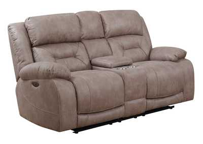 Image for Aria Desert Sand Power-2 Recliner Console Loveseat