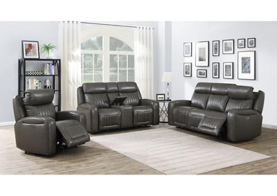 Image for Avila Brown Power-2 Recliner Sofa, Armchair & Loveseat
