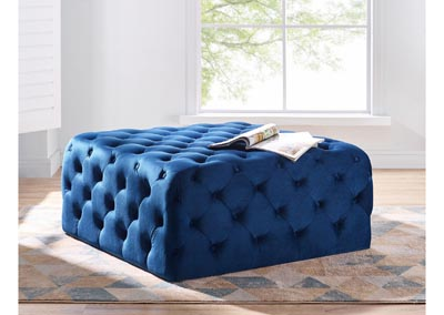 Image for Belham Navy Square Tufted Ottoman