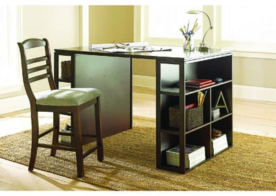Image for Bradford Black Counter Height Writing Desk W/ Chair