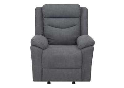 Image for Chenango Dark Grey Glider Recliner Chair