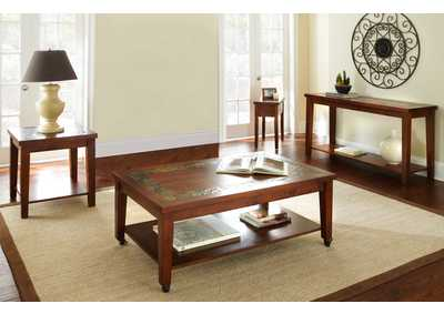 Image for Davenport Cherry 4 Piece Occasional Table Set