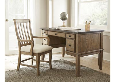 Debby Driftwood Ash Bluestone Writing Desk W/ Chair