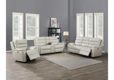 Image for Duval Ivory Power-2 Recliner Sofa, Armchair & Loveseat