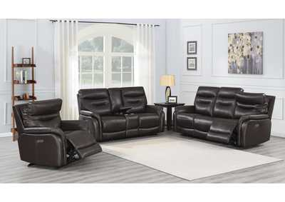 Image for Fortuna Coffee Power-2 Recliner Sofa, Armchair & Loveseat