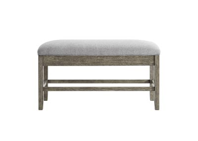 Image for Grayson Grey Storage Counter Bench