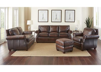 Image for Jamestown Brown Sofa, Armchair & Loveseat W/ Ottoman