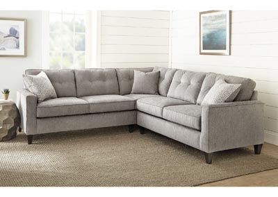 Image for Maddox Grey Left Arm Corner Sofa w/2 Pillow