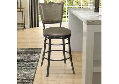 Image for Sari Grey Swivel Bar Stool [2/ctn]