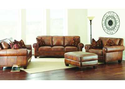 Image for Silverado Brown Sofa, Armchair & Loveseat W/ Ottoman
