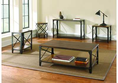 Image for Winston Cherry 5 Piece Occasional Table Set