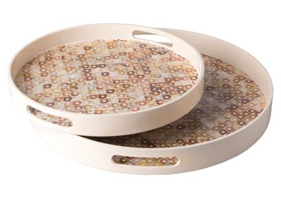 Image for Arabela Cream Tray Set