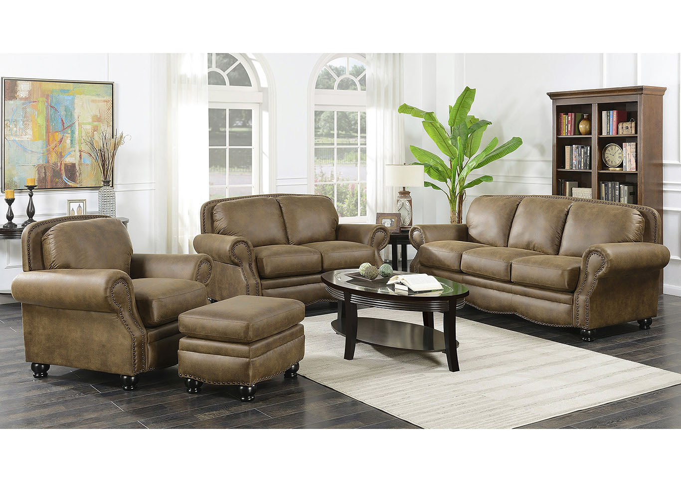 Abrianna Cafe Stationary 4 Piece Living Room Group,Taba Home Furnishings