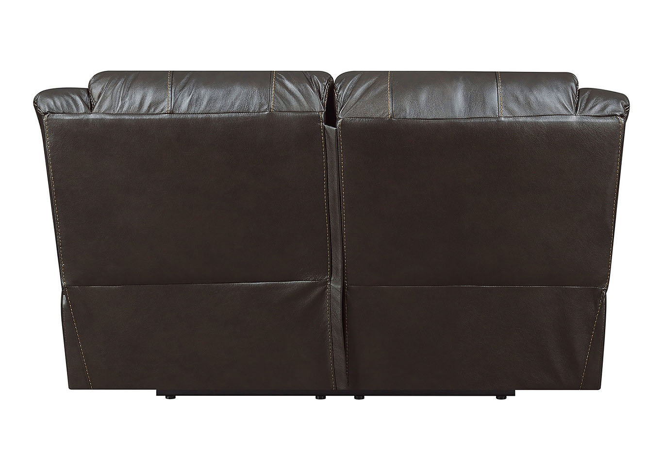Lisa Chocolate Leather Match Manual Motion Loveseat,Taba Home Furnishings