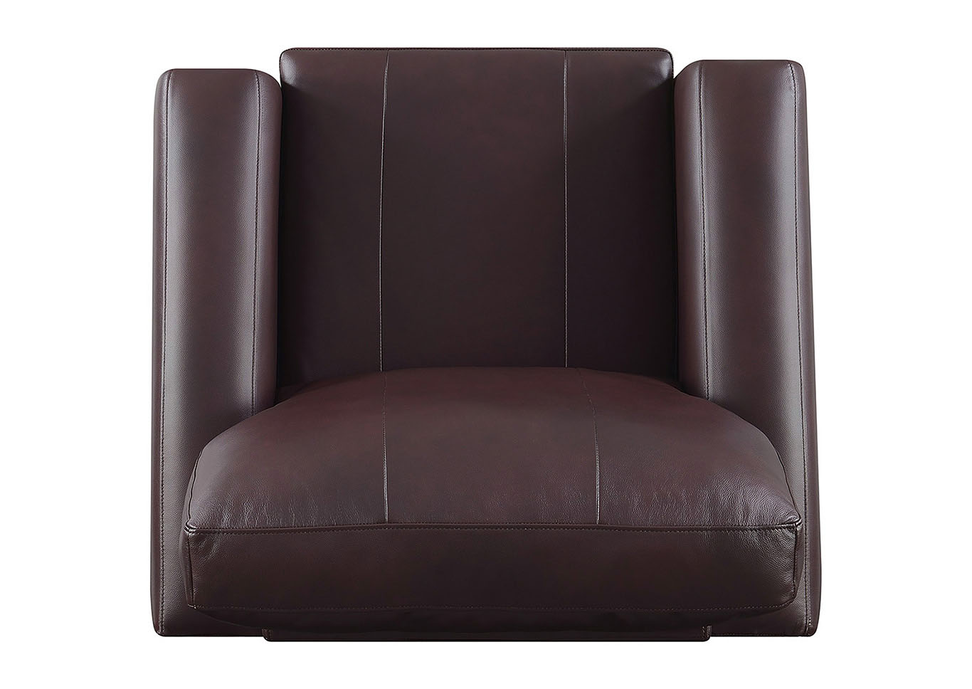Stephanie Burgundy Leather Match Stationary Chair,Taba Home Furnishings