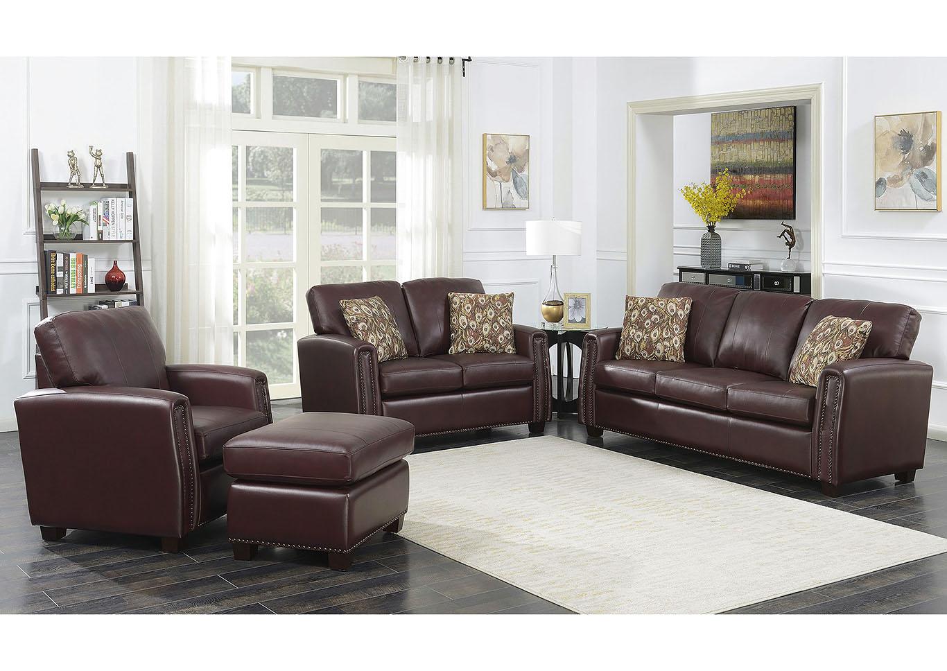 Stephanie Burdy Leather Match, Leather Living Room