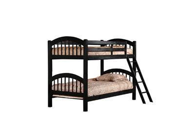 Image for Junior Black T/T Bunk Bed (Mattress, Trundle, Storage Drawers SOLD SEPARATELY)