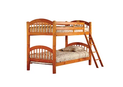 Image for Junior Oak T/T Bunk Bed (Mattress, Trundle, Storage Drawers SOLD SEPARATELY)