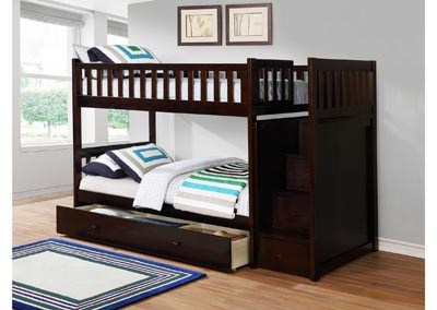Image for Junior Espresso T/T Bunk Bed (Mattress, Trundle, Storage Drawers SOLD SEPARATELY)
