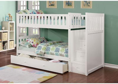 Image for Junior White T/T Bunk Bed (Mattress, Trundle, Storage Drawers SOLD SEPARATELY)