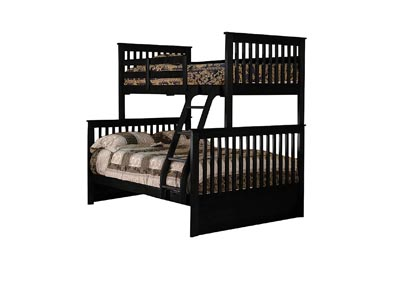 Image for Junior Black T/F Bunk Bed (Mattress, Trundle, Storage Drawers SOLD SEPARATELY)