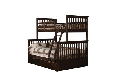 Image for Junior Espresso T/F Bunk Bed (Mattress, Trundle, Storage Drawers SOLD SEPARATELY)