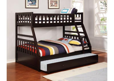 Image for Junior Espresso T/F Bunk Bed (Mattress, Trundle SOLD SEPARATELY)