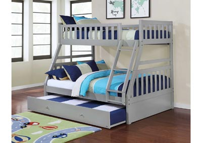 Image for Junior Gray T/F Bunk Bed (Mattress, Trundle SOLD SEPARATELY)