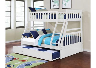 Image for Junior White T/F Bunk Bed (Mattress, Trundle SOLD SEPARATELY)