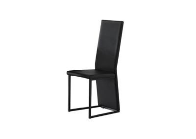 Image for Dart Black Set Of 6 Chairs (6/2CN)