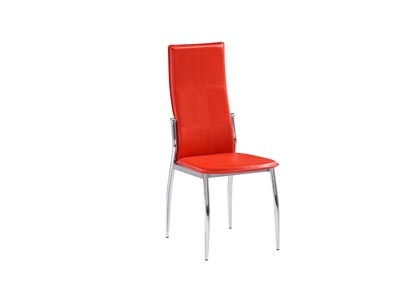 Image for Caldwell Red Set Of 4 Chairs (4/CN)