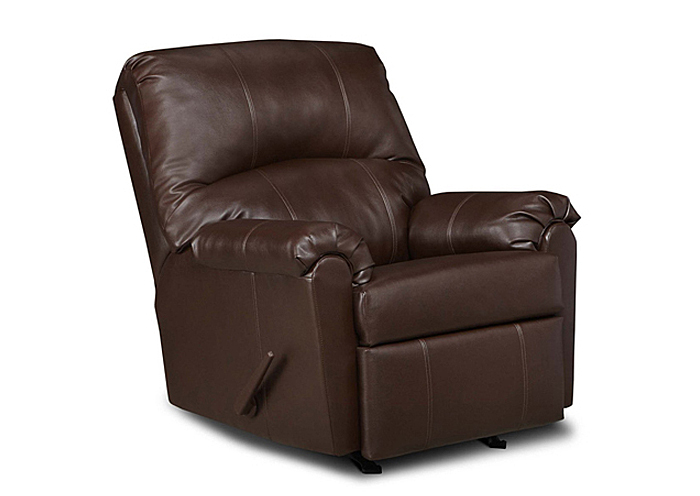 WALNUT 3-WAY RECLINER,United Furniture