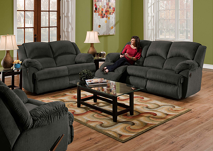 CHARCOAL DOUBLE MOTION SOFA,United Furniture