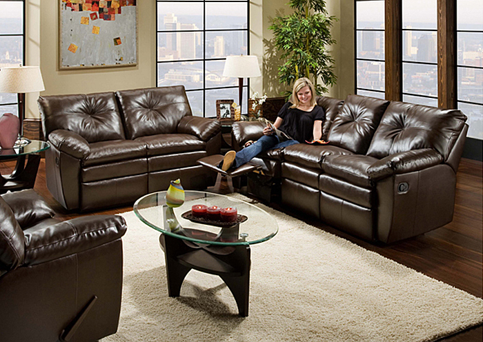 COFFEEBEAN DOUBLE MOTION SOFA,United Furniture