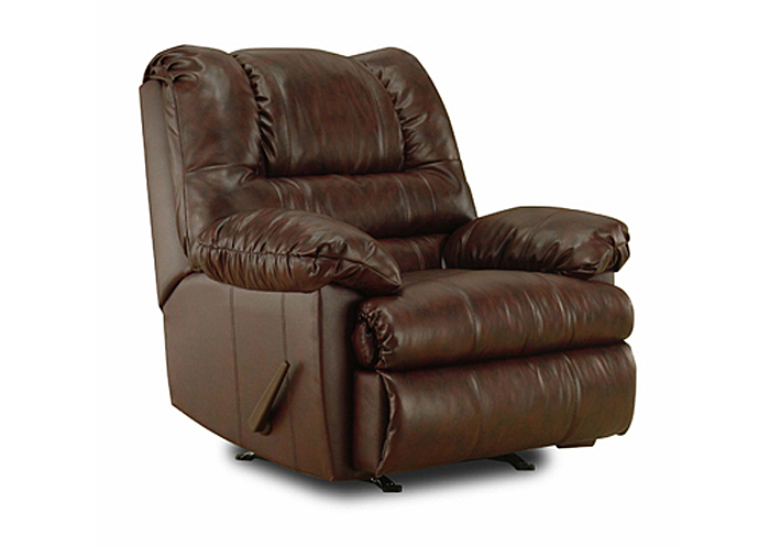 MAHOGANY ROCKER RECLINER,United Furniture