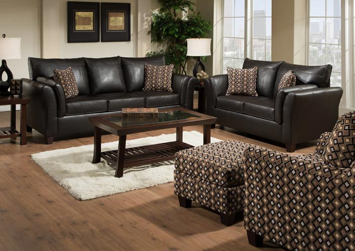 URBAN CHOCOLATE BONDED LEATHER MATCH / BLISS MINERAL SOFA,United Furniture