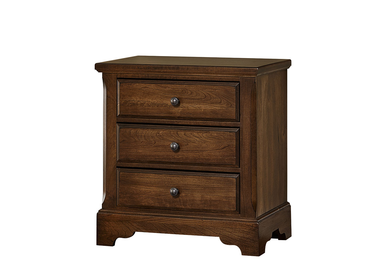 101 - Artisan Choices Rustic Cherry Villa Night Stand - 3 Drawer,Vaughan-Bassett