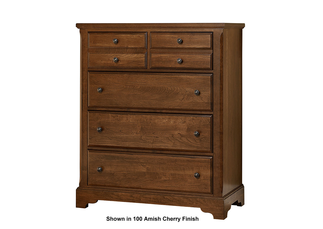 104 - Artisan Choices Dark Cherry Villa Chest - 5 Drawer,Vaughan-Bassett