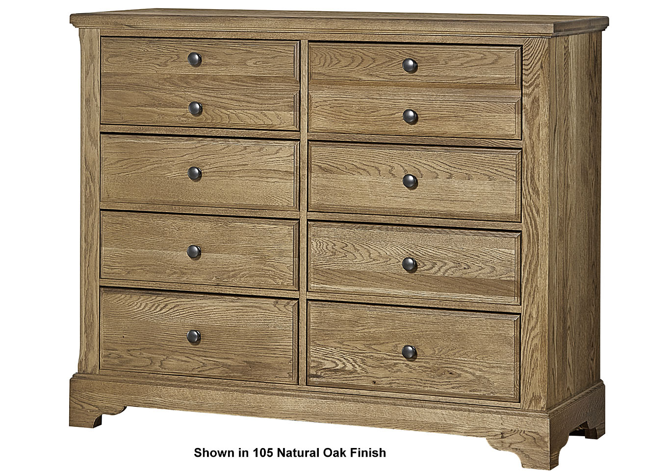 106 - Artisan Choices Dark Oak Villa Media Dresser - 8 Drawer,Vaughan-Bassett